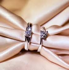 natural engagement rings images 2018 factory 18k white gold real gold couple rings natural diamond jpg