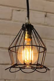 industrial style lighting cage industrial pendant ball trouble light cage lights fat