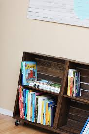 Building Wood Bookshelf by Diy Wood Crate Bookshelf Sew Much Ado