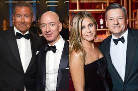 golden globes party report from jeff bezos to jennifer aniston