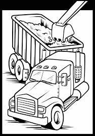semi truck coloring kids coloring