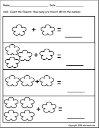 worksheet addition to 10 flower theme pre k abcteach