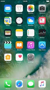 list of screen icons apple iphone 7 plus ios 10 0 telstra