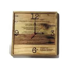 personalized anniversary clock personalized anniversary clock laser engraved wedding by raymels