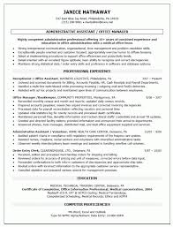 Resume Templates For Administration Job by Office Manager Advice Manager Resume Examples 16 Program Manager