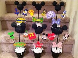 mickey mouse clubhouse centerpieces sesame birthday door sign the party is here mickey mouse