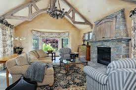 French Country Family Room LV Designs - Country family rooms