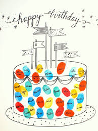 printable birthday card decorations free printable fingerprint birthday cards free printable