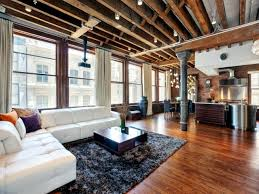 Industrial Look Living Room by The Industrial Look In A Lovely Apartment In Soho New York