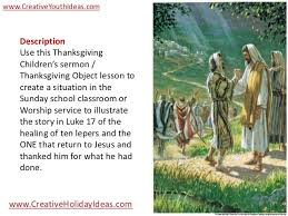 object lesson thanksgiving ten lepers