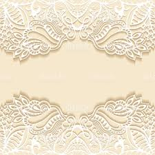 Invitation Card Standard Size Abstract Background Frame Border Lace Pattern Wedding Invitation
