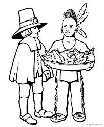 thanksgiving pilgrim and indian coloring pictures 024