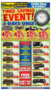Discount Furniture Kitchener by Surplus Furniture U0026 Mattress Warehouse Kitchener Flyer May 30 To