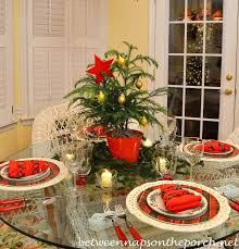 christmas table setting tablescape with spode christmas tree