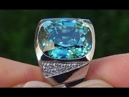 blue zircon rings images Gia certified men 39 s flawless natural blue zircon diamond 14k white jpg