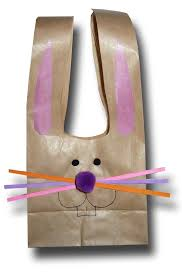 easter bags paper crafts for children easter bunny paper bags
