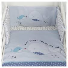 Tesco Nursery Bedding Sets Buy Tesco Whale Cot Baby Bumper Set From Our Cot Bumpers Range Tesco