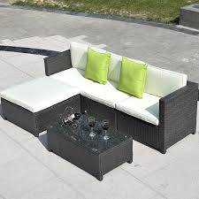 Modern Garden Table And Chairs Costway Outdoor Patio 5pc Furniture Sectional Pe Wicker Rattan