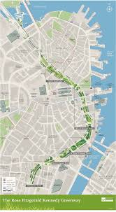 Street Map Of Boston by Calm Streets Boston Bike Lanes Along Rose Kennedy Greenway