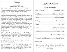 funeral programs order of service how to write a funeral program obituary template sle