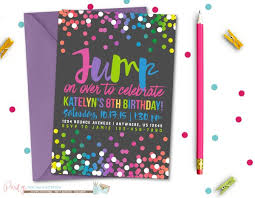 jump birthday invitation bounce birthday invitation