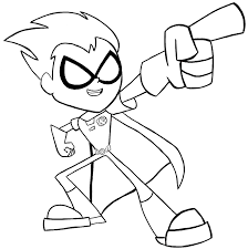 how to draw robin from teen titans go with easy steps tutorial