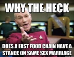 Jean Luc Picard Meme - political cartoons about chick fil a gay marriage controversy