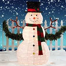 Christmas Decoration Outdoor Uk by Giant Snowman Led Christmas Decoration For Indoor Outdoor Amazon