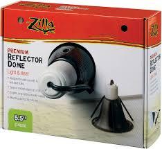 zilla premium reflector light u0026 heat black ceramic dome lighting