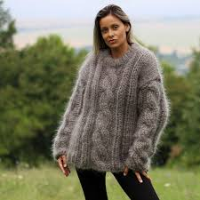 246 best mohair cable sweaters images on cable sweater