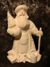 ready to paint ceramic bisque santa clause