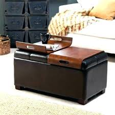 ottoman with storage and tray black leather ottoman gcss info