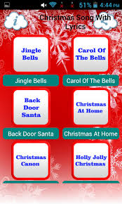 christmas song with lyrics android apps on google play
