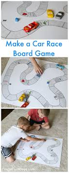 game design your own car make your own car race board game fun activities homemade board