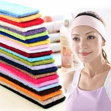 athletic headbands sweatbands cotton sports headbands terry cloth moisture wicking