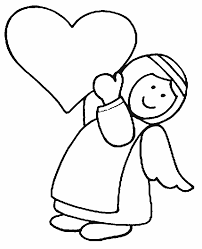 free angel coloring pages letscoloringpages cute angel