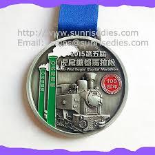 engraved ribbon engraved color fill metal marathon medals china maker oem