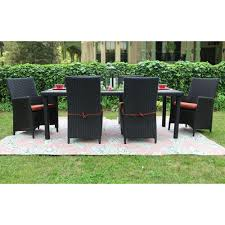 Resin Wicker Patio Dining Set - patio dining sets with red cushions example pixelmari com