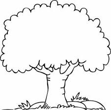 tree coloring pages nature apple tree coloring page for kids