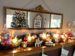 my 2010 christmas mantel pink vintage christmas ornaments