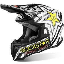 motocross gear gold coast airoh new mx 2017 twist rockstar matte black white motocross dirt