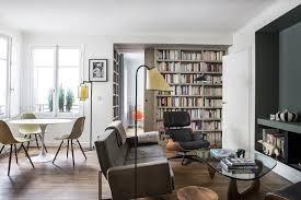 excellent small paris apartment living room philippe harden design