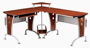 Black Computer Desk With Hutch Furniture Fabulous L Shaped Computer Desk With Hutch And Glass