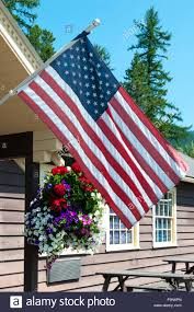 American House Flag American Flag Outside House In Stockfotos U0026 American Flag Outside