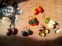 eco earrings pistachio shell eco earrings 8 steps
