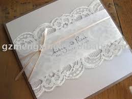 wedding invitations lace wedding invitations with lace plumegiant