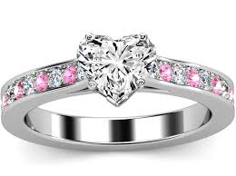 Heart Wedding Rings by Pink Sapphire Engagement Rings From Mdc Diamonds Nyc