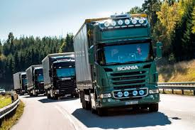 six semi autonomous trucks just drove 1 300 miles across europe