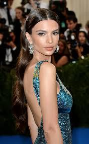 gala earrings emily ratajkowski wore opal diamond hoop earrings met gala