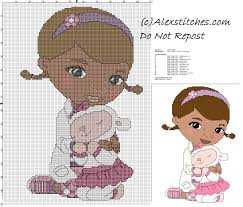 doc mcstuffins children free cross stitch pattern free cross